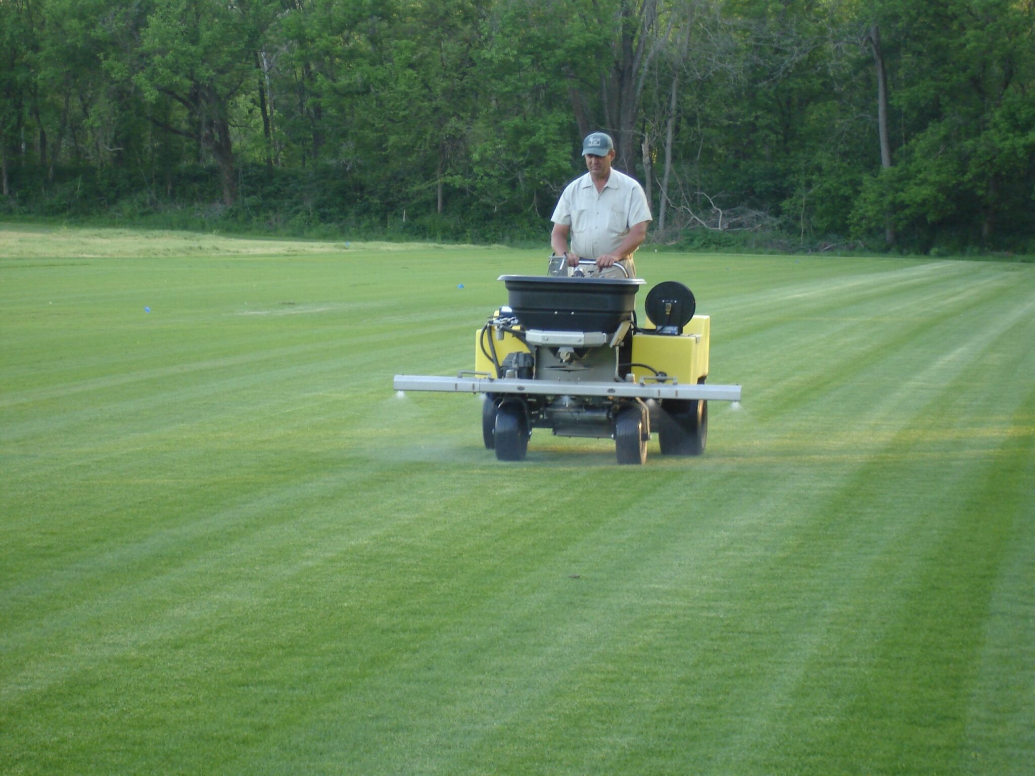 Lawn Care Picture of Gene at Sod field